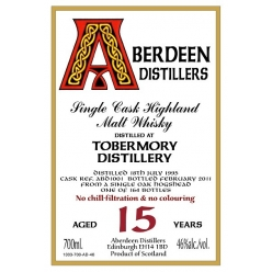 Whisky Single malt Aberfeldy Central Highland 1999