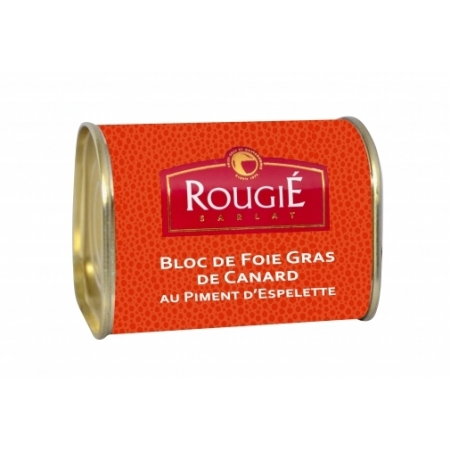 Bloc of duck foie gras and Espelette pepper - 145 gr.
