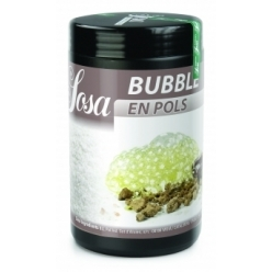 Bubble powdered preparation based on egg whites