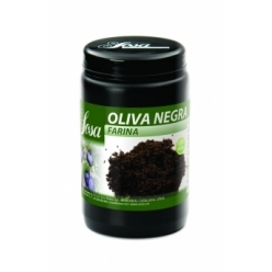 Freeze dried black olive flour