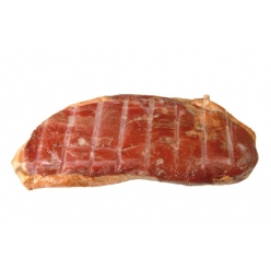 sliced smoked duck speck...